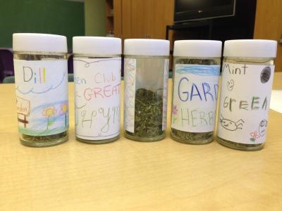 Up Close Spice Jars